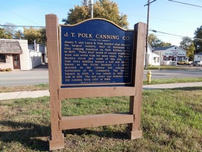 J. T. Polk Canning Co. Marker image. Click for full size.