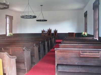 Old Stone Church Interior image. Click for full size.