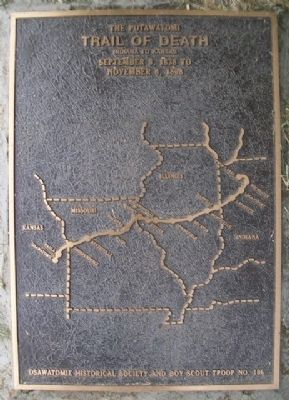 The Potawatomi Trail of Death Marker image. Click for full size.