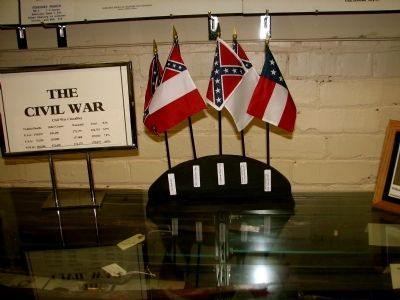 First National Confederate Flag Marker image. Click for full size.