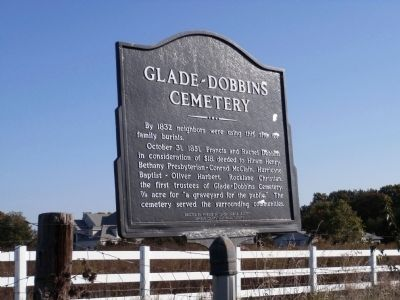 Glade-Dobbins Cemetery Marker image. Click for full size.