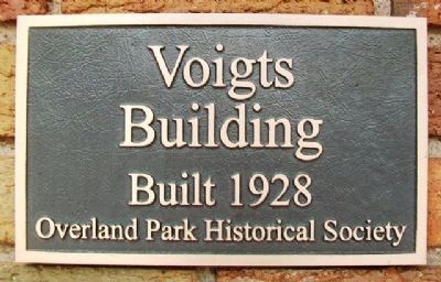 Voights Building Marker image. Click for full size.