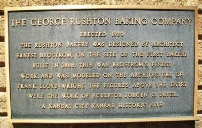 The George Rushton Baking Company Marker image. Click for full size.