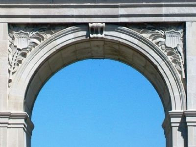 Rosedale Memorial Arch Detail image. Click for full size.