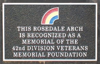 Rosedale Memorial Arch 42nd Division Marker image. Click for full size.