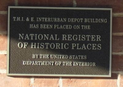 T.H.I.&E. Interurban Depot Building Marker image. Click for full size.