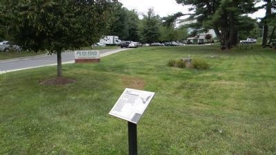 "The ""Reflections of Old Germantown"" Marker, on the lawn south of the image. Click for full size."