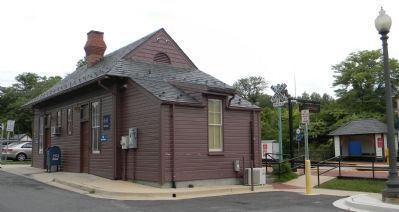 The MARC Train station on the old B&O line image. Click for full size.