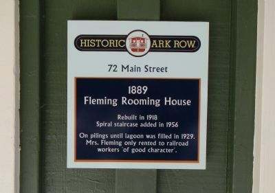 Fleming Rooming House Marker image. Click for full size.