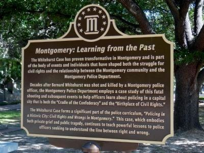 Montgomery: Learning from the Past marker (side 2) image. Click for full size.