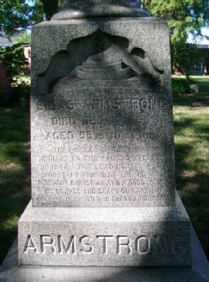 Silas Armstrong Marker image. Click for full size.