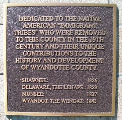 "Native American ""Immigrant Tribes"" Marker image. Click for full size."