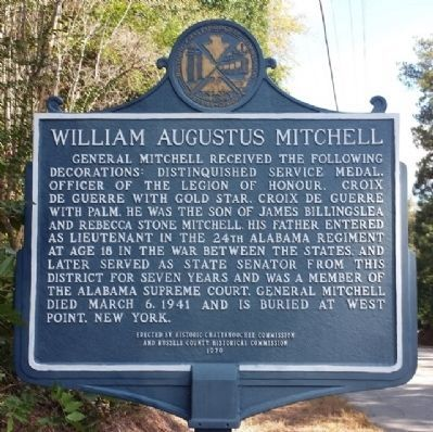 William Augustus Mitchell Marker (reverse) image. Click for full size.