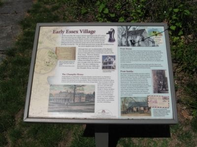 Early Essex Village Marker image. Click for full size.
