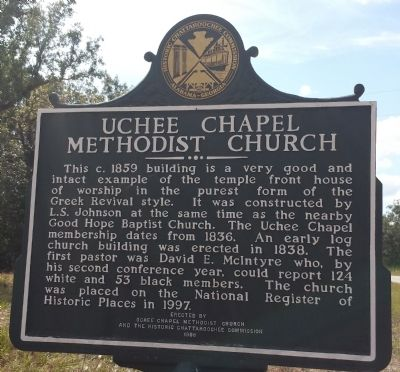 Uchee Chapel Methodist Church Marker image. Click for full size.
