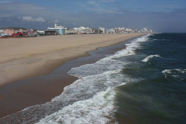 Ocean City Beach and surf in early October image. Click for full size.