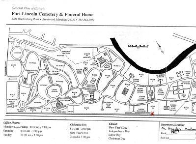 Map of Fort Lincoln Cemetery image. Click for full size.
