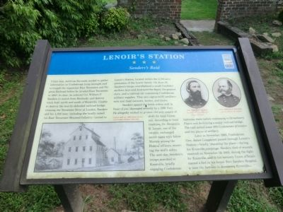 Lenoir's Station Marker image. Click for full size.