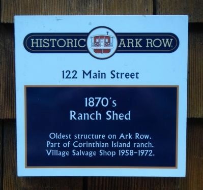 1870�s Ranch Shed Marker image. Click for full size.