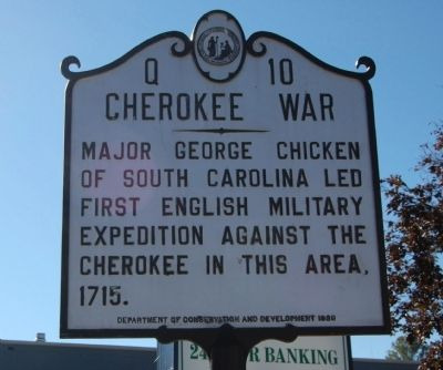 Cherokee War Marker image. Click for full size.