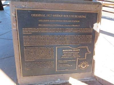 Original 1927 Bridge Roller Bearing Marker image. Click for full size.