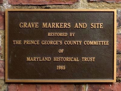 1985 Restoration Plaque image. Click for full size.
