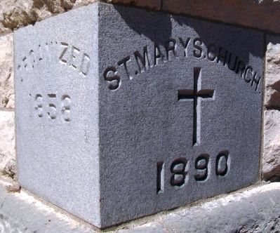 St. Mary's Catholic Church Cornerstone image. Click for full size.