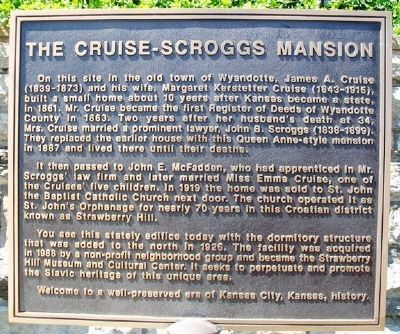 The Cruise-Scroggs Mansion Marker image. Click for full size.