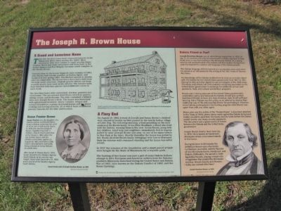The Joseph R. Brown House Marker image. Click for full size.