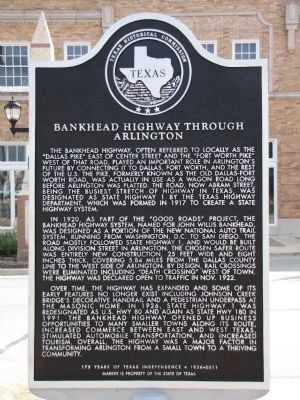 Bankhead Highway Through Arlington Marker image. Click for full size.