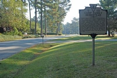 Camp Family Homestead Marker seen on Homestead Road image. Click for full size.