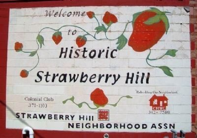 Strawberry Hill Neighborhood Welcome Sign image. Click for full size.