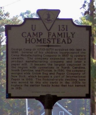 Camp Family Homestead Marker image. Click for full size.
