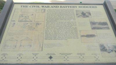 The Civil War and Battery Rodgers Marker image. Click for full size.