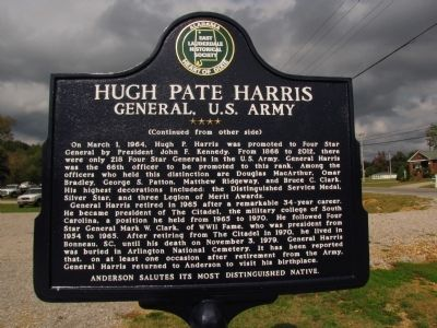 Hugh Pate Harris Marker image. Click for full size.