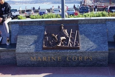 View SW - The Lone Sailor Memorial Marine Corps Panel Photo, Click for full size