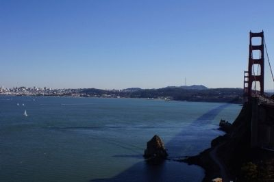 The Golden Gate from the Lone Sailor Memorial Photo, Click for full size