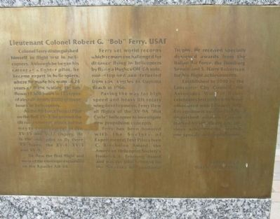 "Lt. Col. Robert G. ""Bob"" Ferry, USAF 