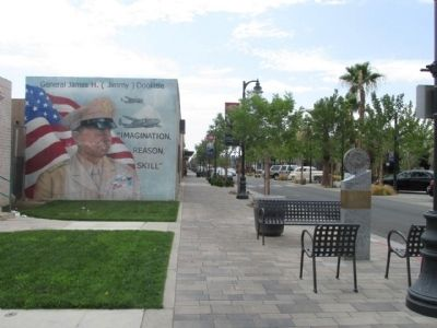 "Lt. Gen. James H. ""Jimmy"" Doolittle, (USAF Retired) Marker & Mural Photo, Click for full size"