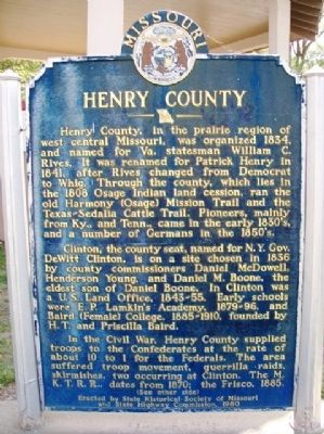 Henry County Marker (Side A) image. Click for full size.