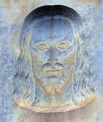 Jesus Looking to Straight Ahead image. Click for full size.