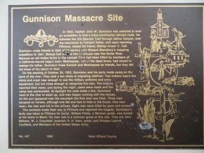 Gunnison Massacre Site Marker image. Click for full size.