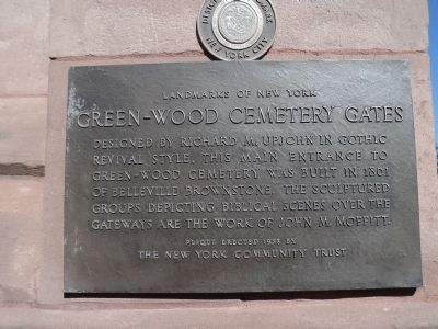 Green-Wood Cemetery	Gates Marker image. Click for full size.
