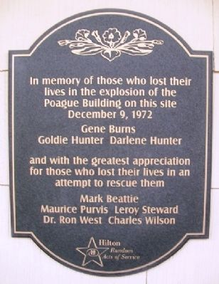 Poague Building Explosion Victims Marker image. Click for full size.
