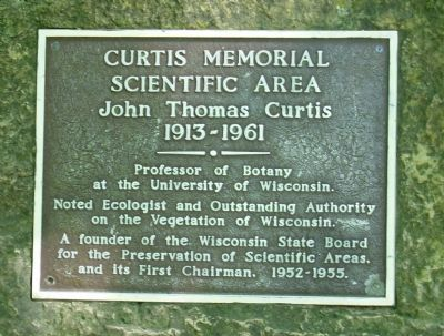 Curtis Memorial Scientific Area Marker image. Click for full size.