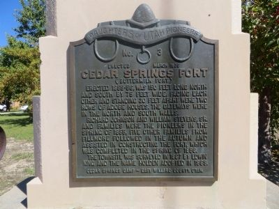Cedar Springs Fort Marker image. Click for full size.