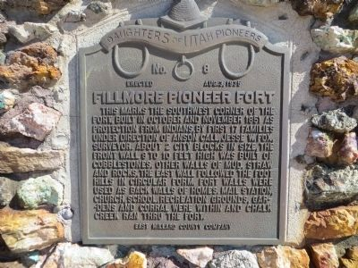 Fillmore Pioneer Fort Marker image. Click for full size.