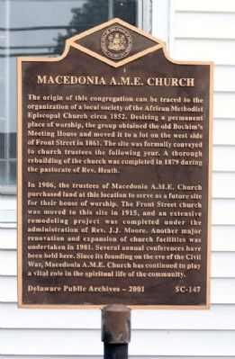 Macedonia A.M.E. Church Marker image. Click for full size.