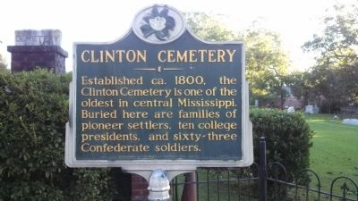 Clinton Cemetery Marker image. Click for full size.
