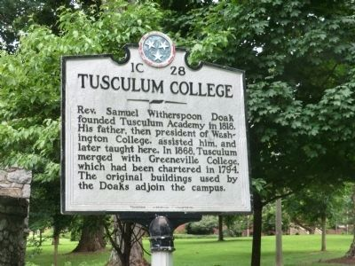 Tusculum College Marker image. Click for full size.